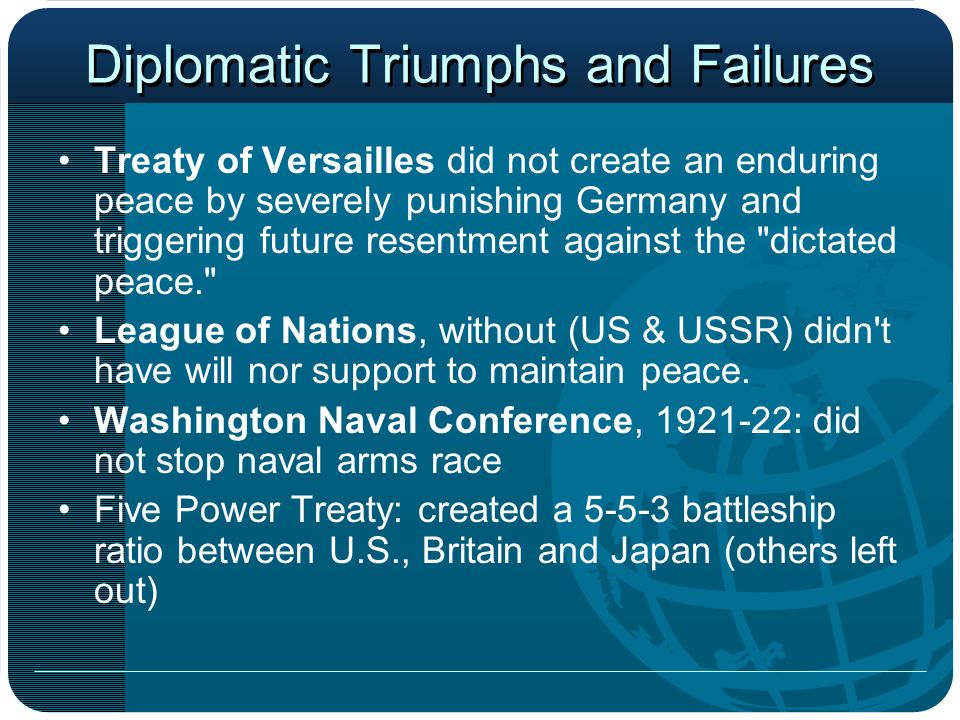 Diplomatic Triumphs and Failures