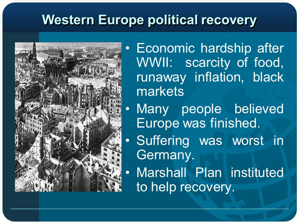 Western Europe political recovery