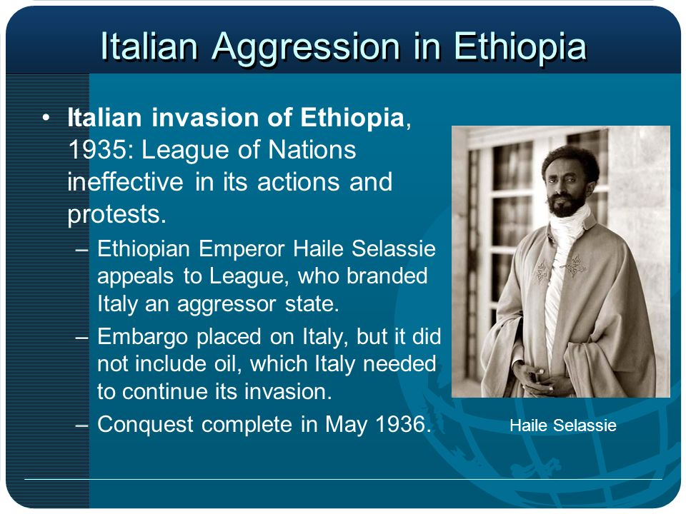 Italian Aggression in Ethiopia