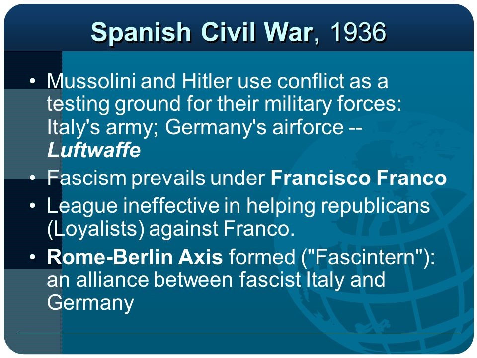 Spanish Civil War, 1936