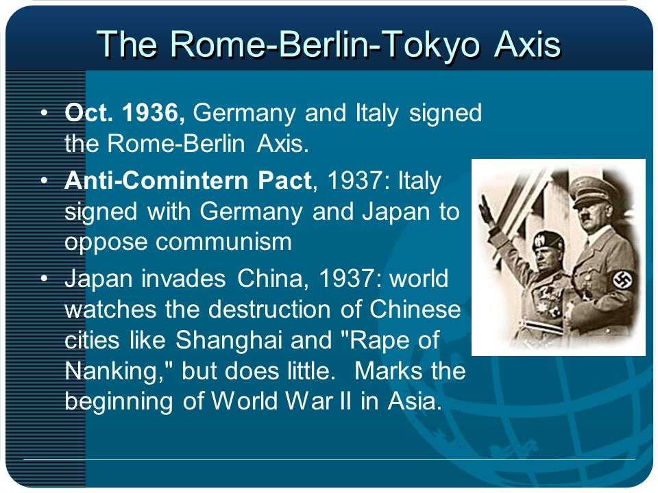 The Rome-Berlin-Tokyo Axis