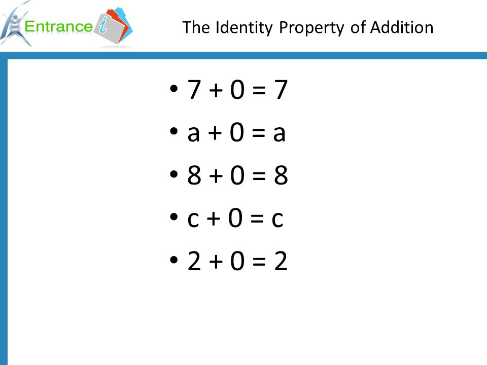 The Identity Property of Addition
