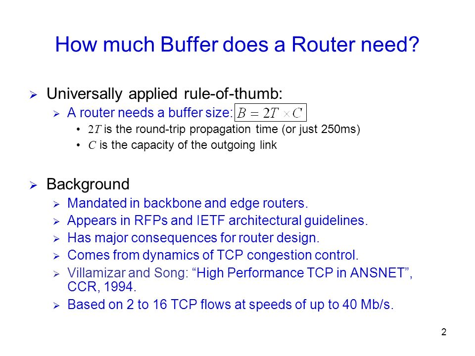 How much Buffer does a Router need