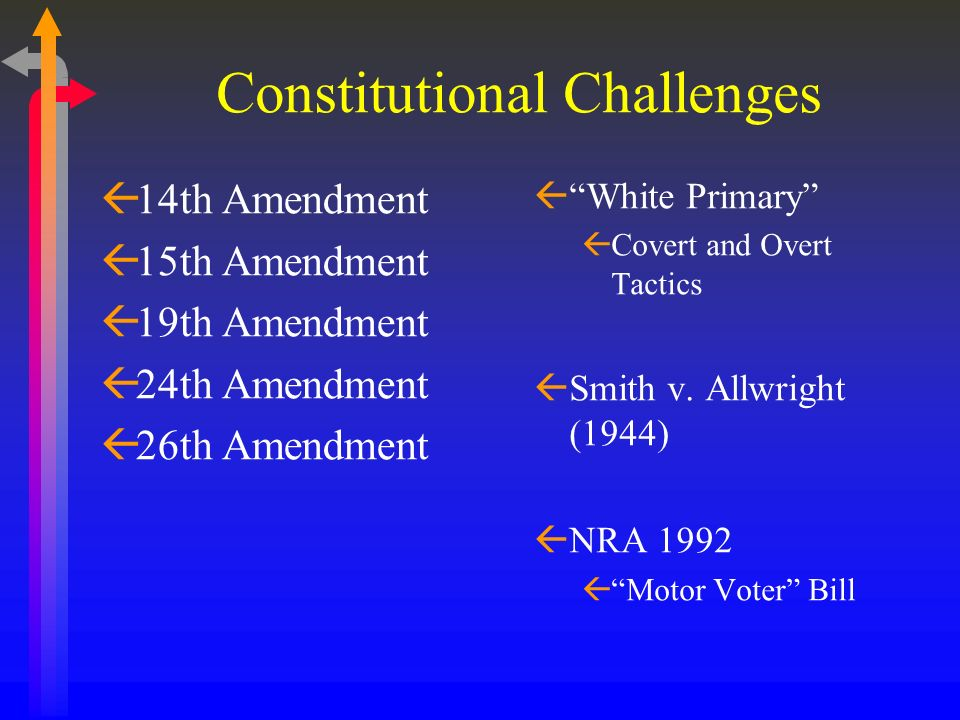 Constitutional Challenges