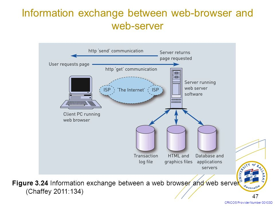 Information exchange between web-browser and web-server