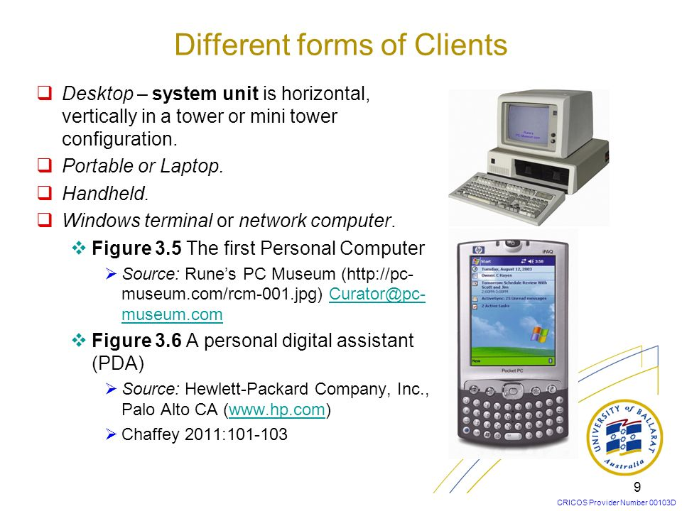 Different forms of Clients