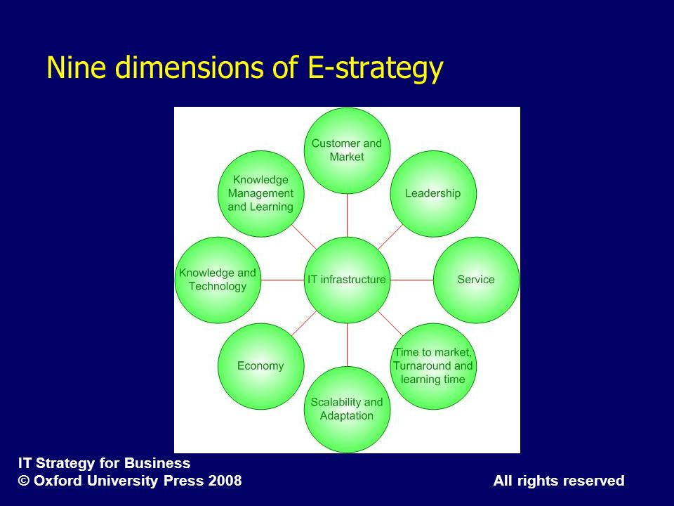 Nine dimensions of E-strategy