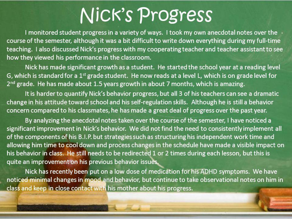 Nick's Progress