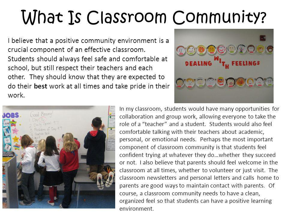 What Is Classroom Community