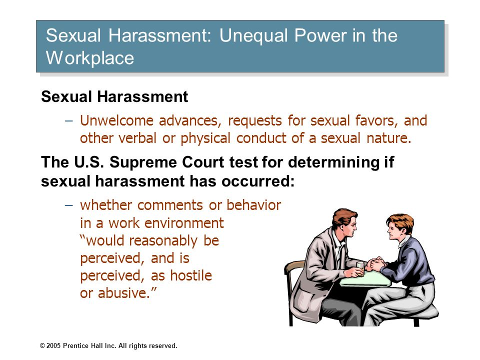 Sexual Harassment: Unequal Power in the Workplace