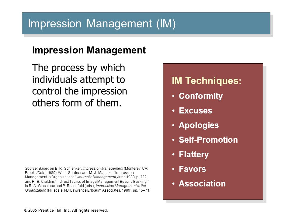 Impression Management (IM)