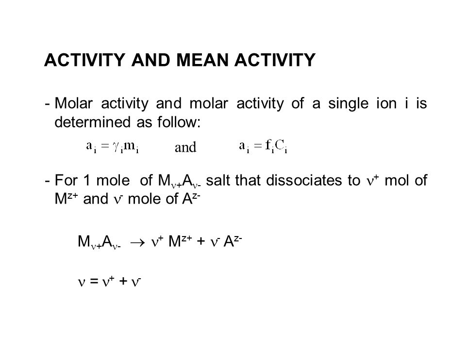 ACTIVITY AND MEAN ACTIVITY
