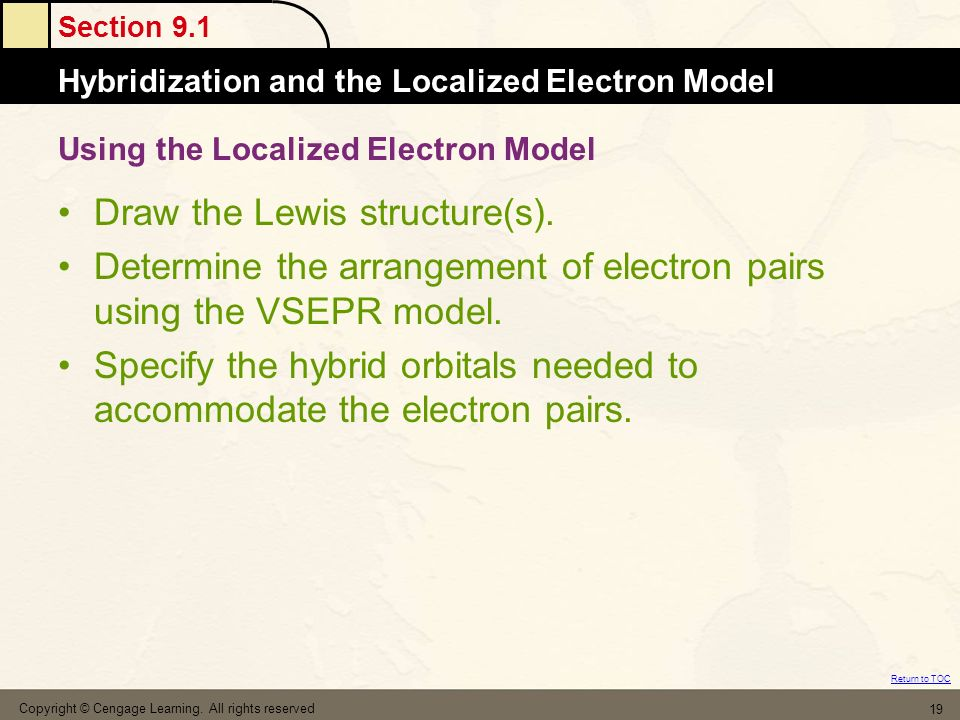 Using the Localized Electron Model