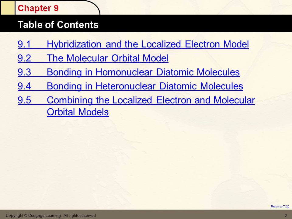 9.1 Hybridization and the Localized Electron Model