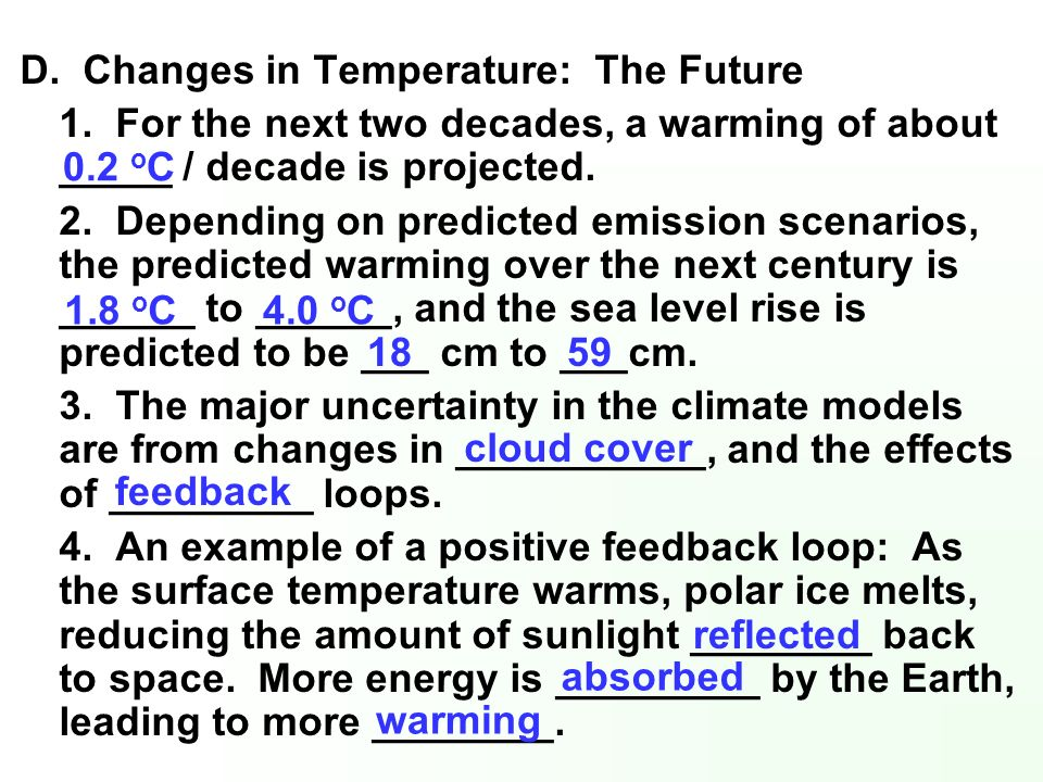 D. Changes in Temperature: The Future