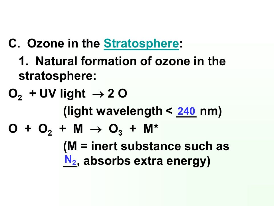 C. Ozone in the Stratosphere: