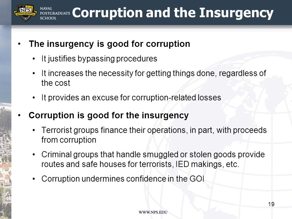 Corruption and the Insurgency
