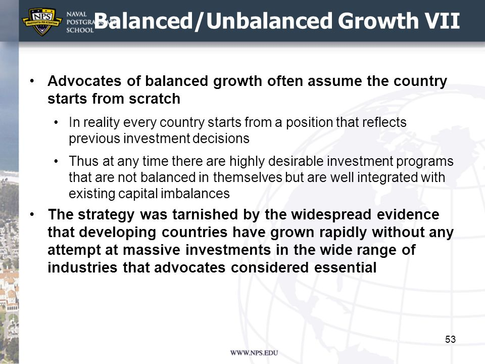 Balanced/Unbalanced Growth VII