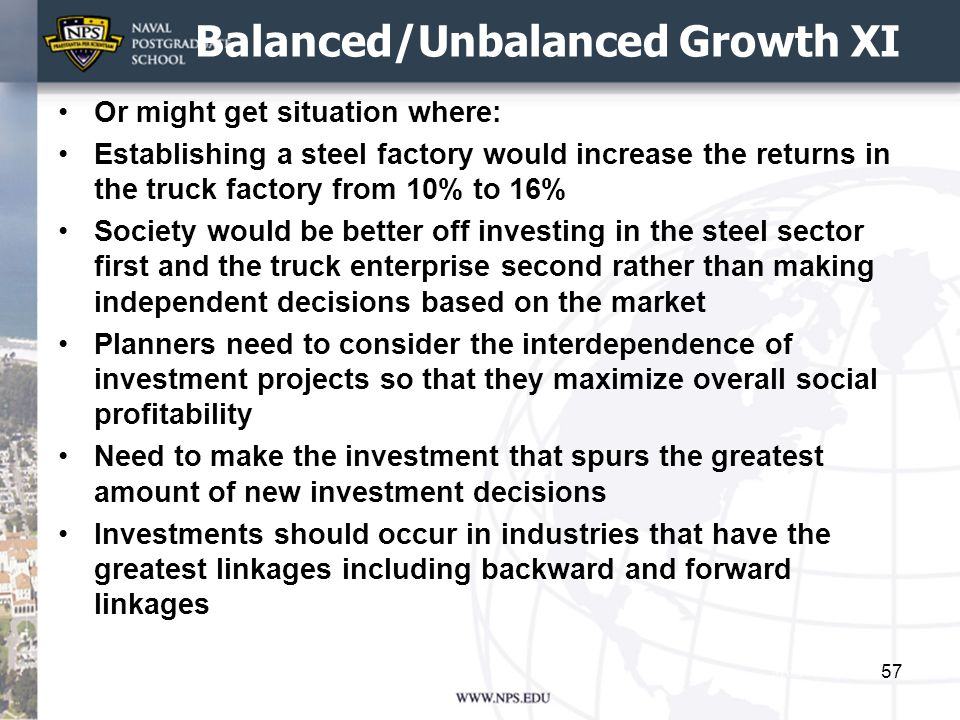 Balanced/Unbalanced Growth XI
