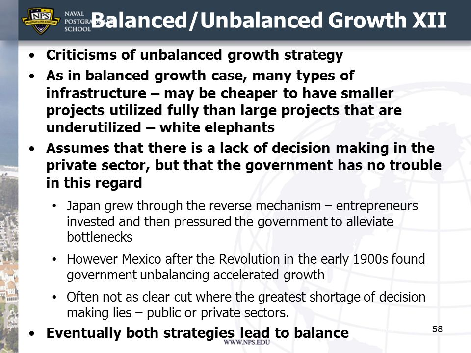 Balanced/Unbalanced Growth XII