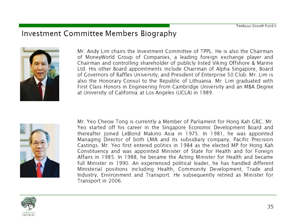 Investment Committee Members Biography