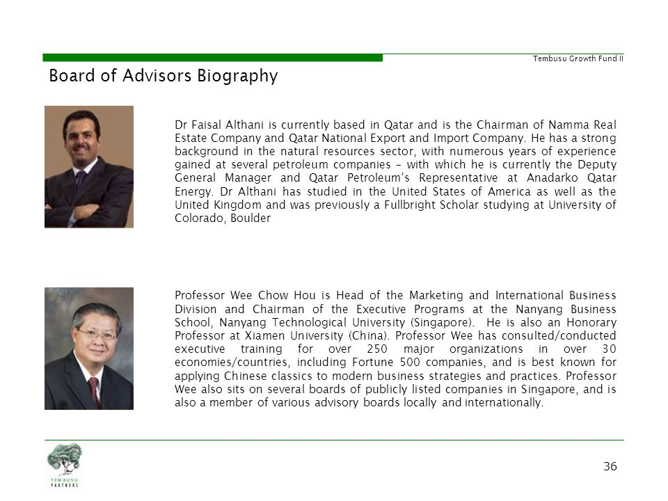 Board of Advisors Biography