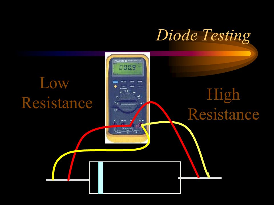 Diode Testing Low Resistance High Resistance