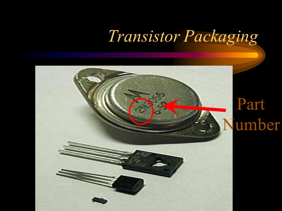 Transistor Packaging Part Number