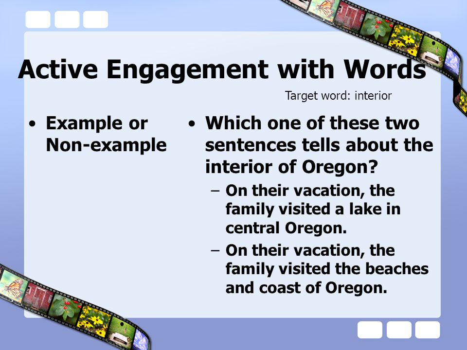 Active Engagement with Words