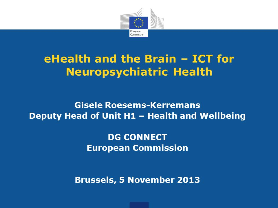 eHealth and the Brain – ICT for Neuropsychiatric Health