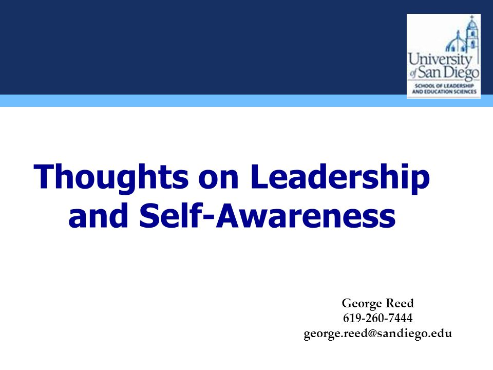 Thoughts on Leadership and Self-Awareness