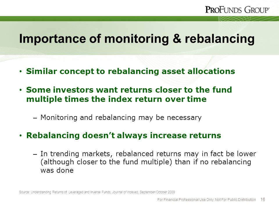 Importance of monitoring & rebalancing