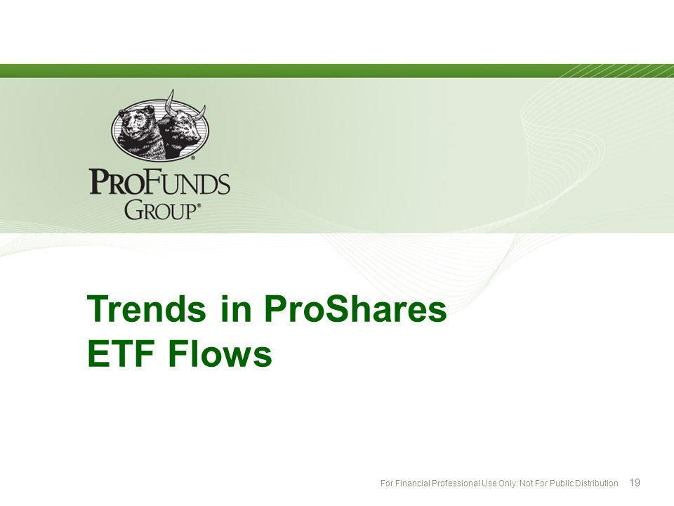 Trends in ProShares ETF Flows