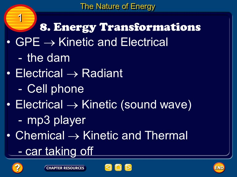 8. Energy Transformations