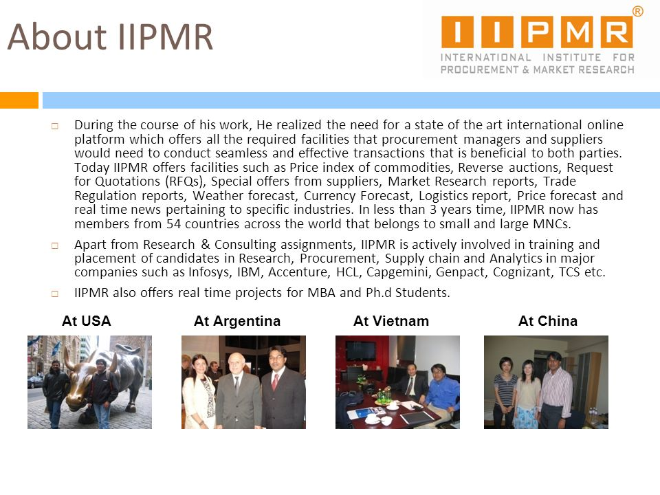 About IIPMR