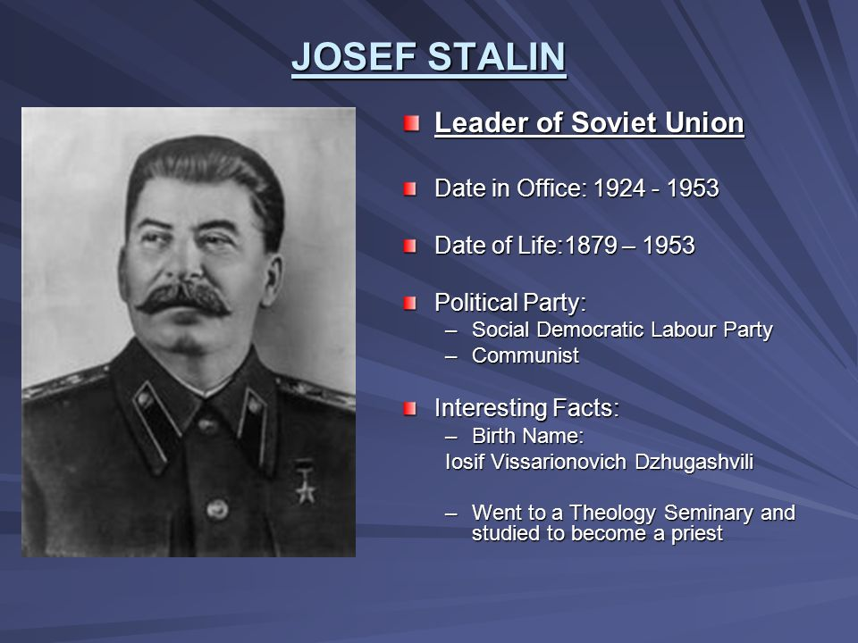 totalitarianism in the reign of joseph stalin in the soviet union In a totalitarian state, the government is a single-party dictatorship that controls every aspect of the lives of its citizens aim how did stalin transform the soviet union into a totalitarian state before during after lenin's death in 1924, joseph stalin outmaneuvered his rivals to gain.