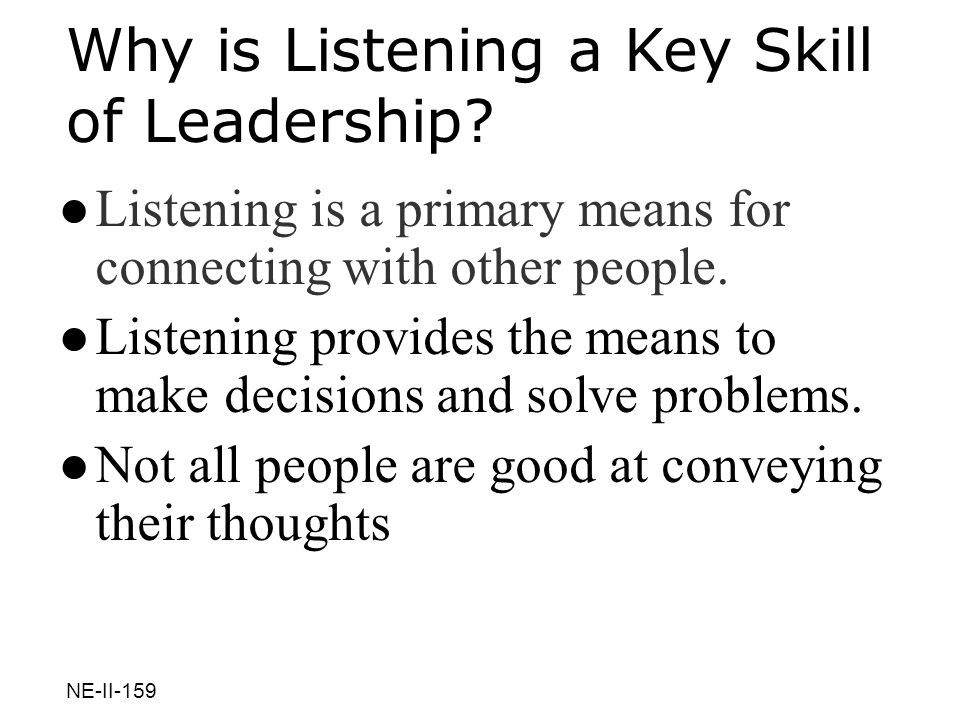Why is Listening a Key Skill of Leadership