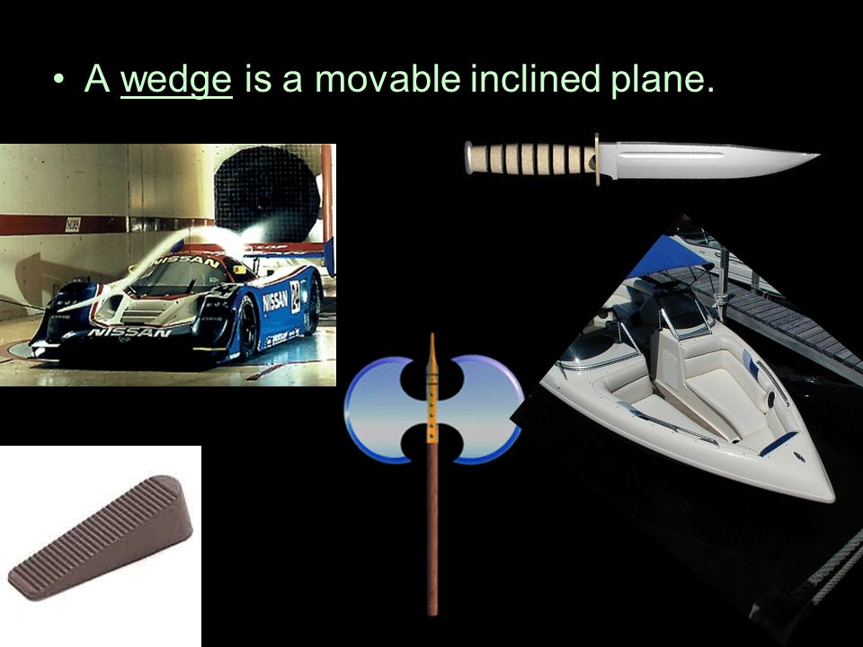 A wedge is a movable inclined plane.