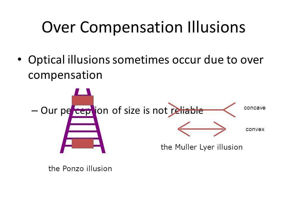 Over Compensation Illusions