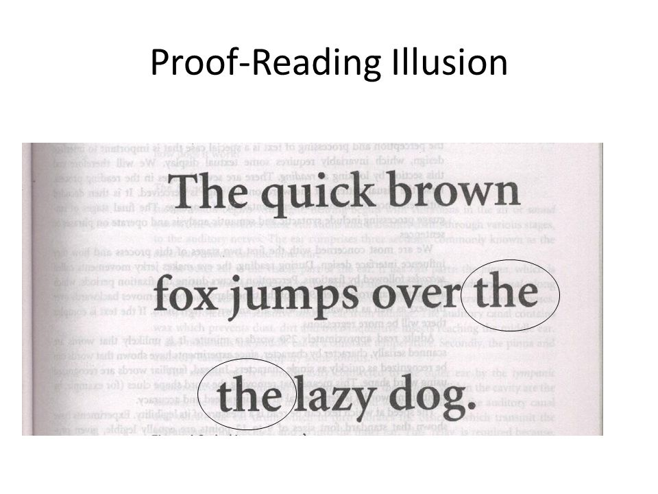 Proof-Reading Illusion