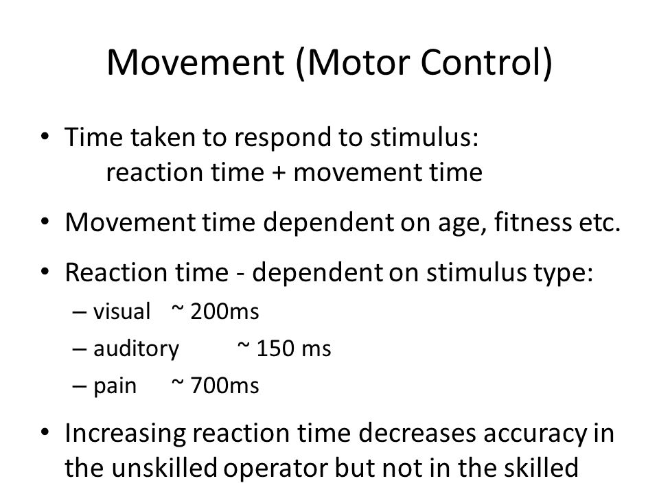 Movement (Motor Control)
