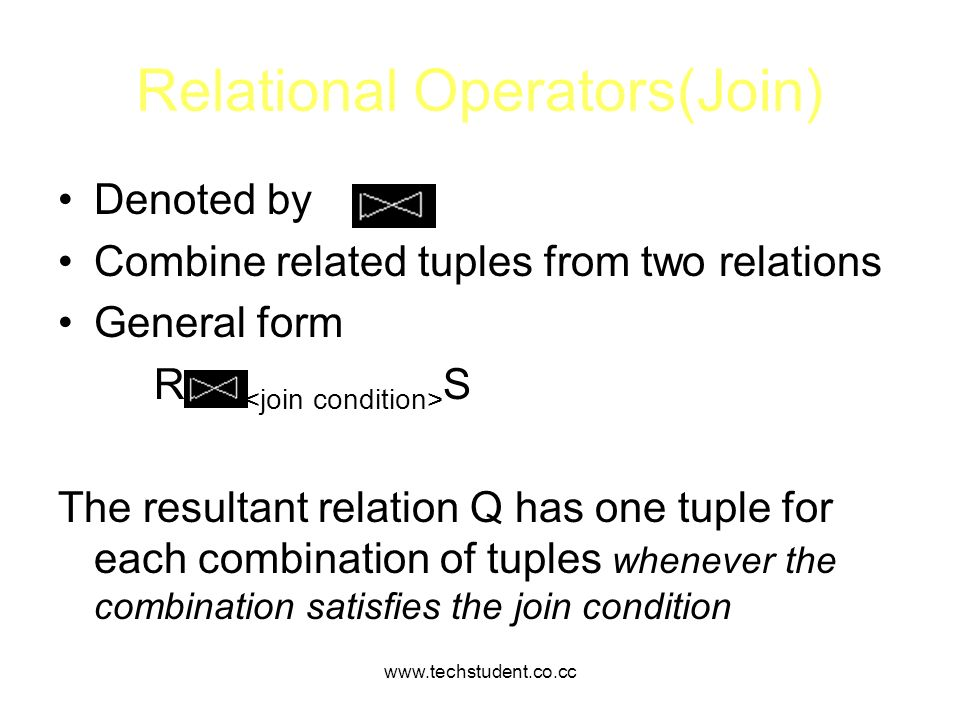 Relational Operators(Join)