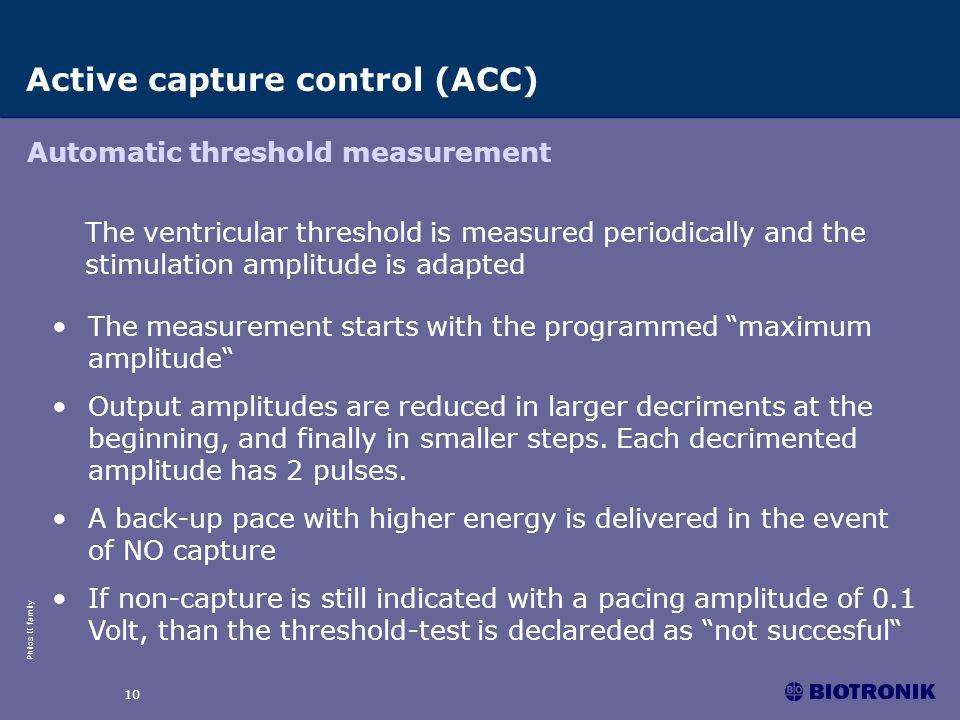 Active capture control (ACC)