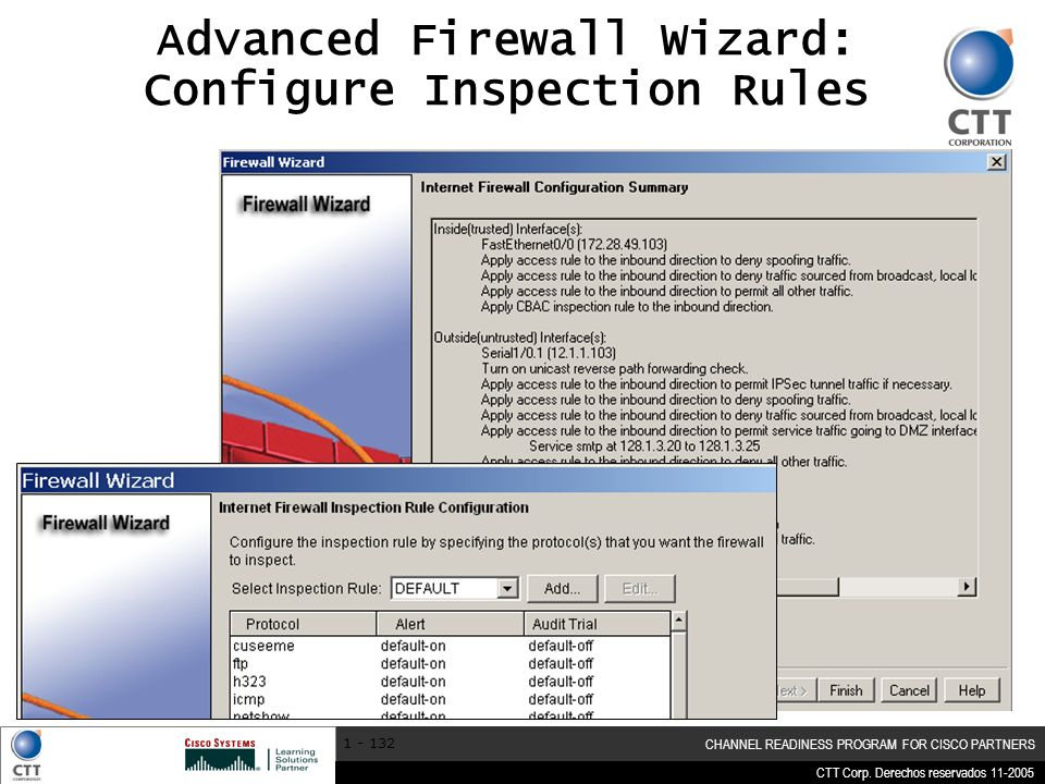 Advanced Firewall Wizard: Configure Inspection Rules