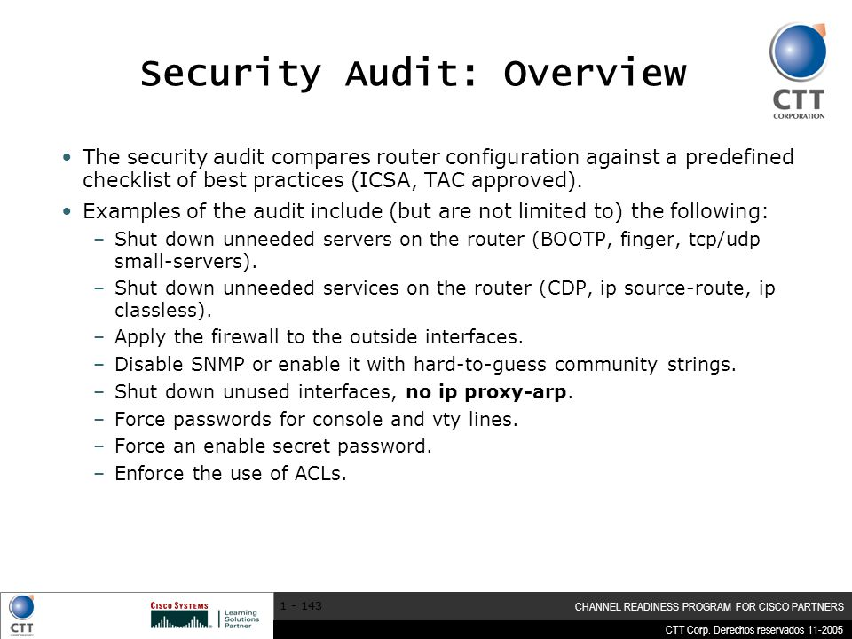 Security Audit: Overview