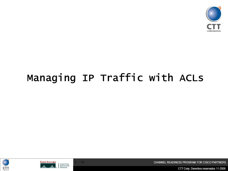Managing IP Traffic with ACLs