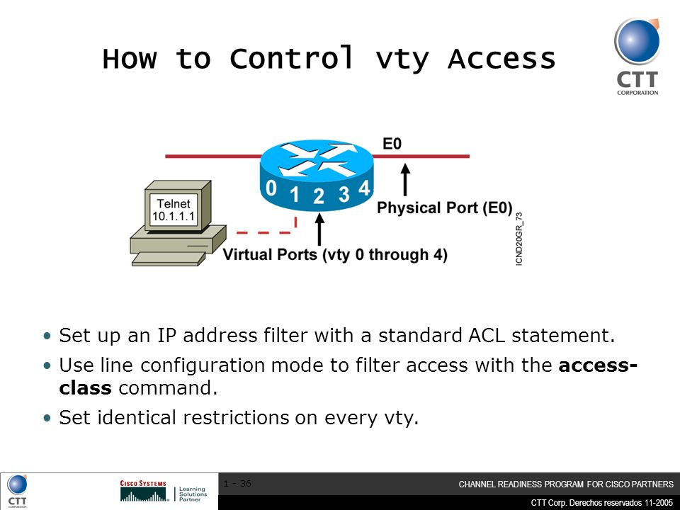 How to Control vty Access