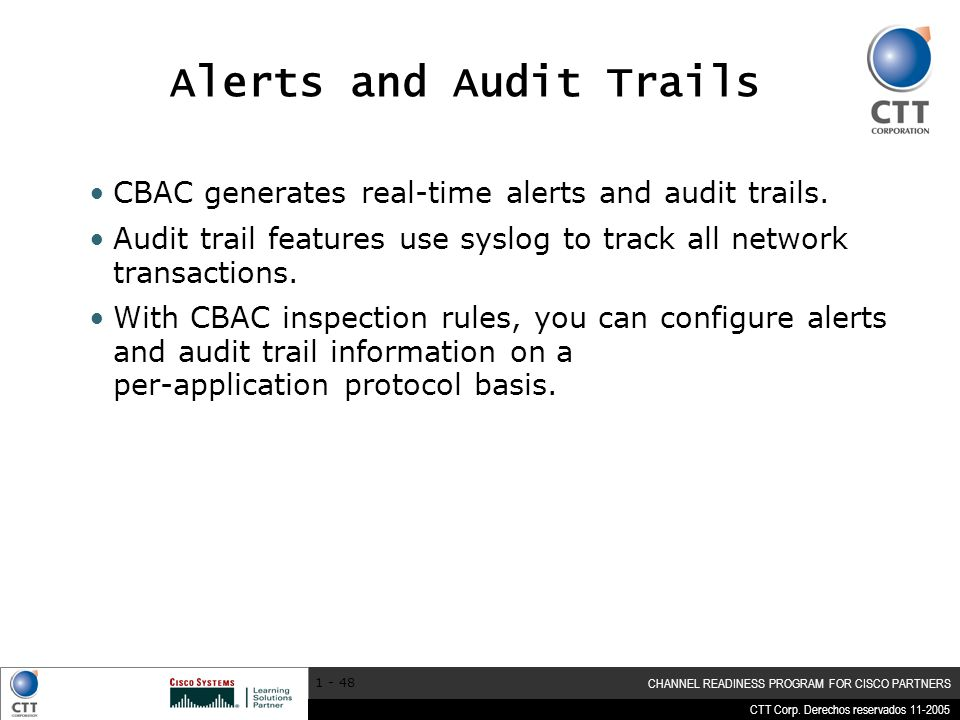 Alerts and Audit Trails