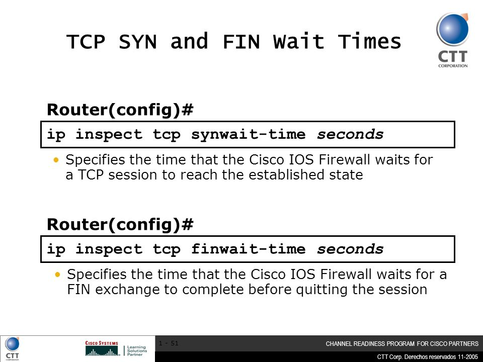 TCP SYN and FIN Wait Times