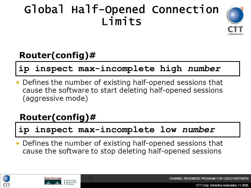 Global Half-Opened Connection Limits